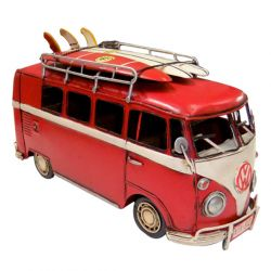 RED KOMBI WITH SURF BOARDS 35CM $69